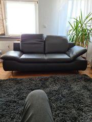 Hochwertige Ledersofa Couch 2er und
