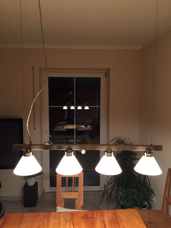 Deckenlampe Wohnzimmer am Seil