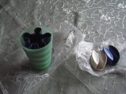 Tupperware 2 Zahnputzbecher 2 Wandharcken
