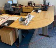 Büro - Schreibtisch - Buche - Schreibtischkombination