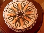 Töpferhof Thüringen Handbemalter Keramikteller