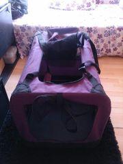 Violette Hundetransportbox