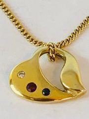 Kette mit Herzanhänger 585 Gold