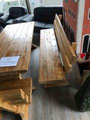 Massive Holzgarnitur Angebot