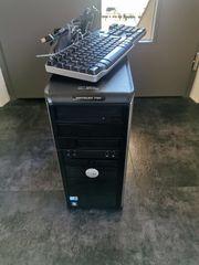 PC mit Tastatur und Maus