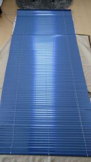 Blaue Jalousien Lamellen Rollo 235x100cm