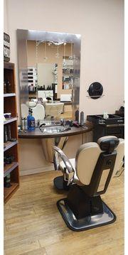 Barber Stuhl und Bedienungplatz