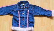 Jeans-Jacke rosa Plüsch-Besatz an Bund