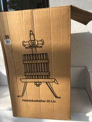 Handkelter Weinpresse 20 Liter - Holz