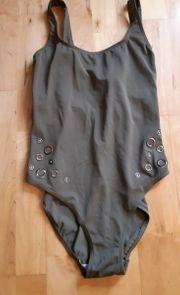 Badeanzug khaki grün Gr 36