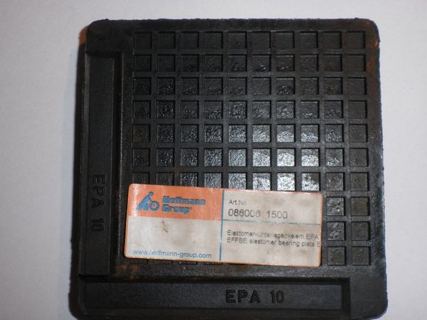 Lagerplatten -- Elastomer Dämpfer 100x100x13mm