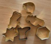 Plätzchen-Ausstechformen 6 Stück aus Metall