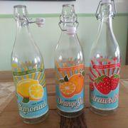 12 Retro Flaschen mit Bügelverschluss