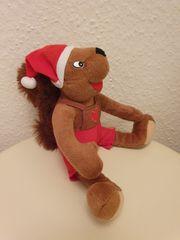 Stofftier Eichhörnchen Weihnachten