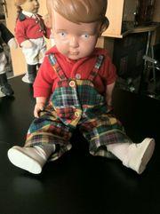 Alte Schildkröt Celluloid Puppe Junge