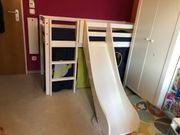 Kinderbett Hochbett mit Rutsche 160