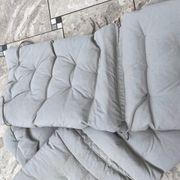 4 x graue Sitzpolster Gartenstuhl