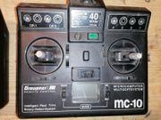Fernsteuerung Graupner MC-10 40 MHz