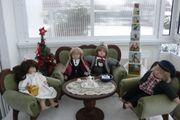 Puppen-Polstergarnitur Tisch