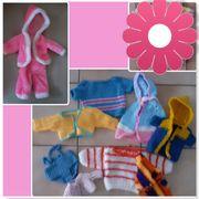 ältere Puppenkleidung teilweise Handarbeit Plüsch