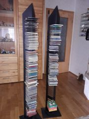 3 CD Ständer silber grau