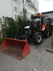 Steyr 8110A und Kipper