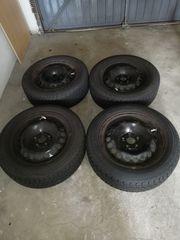4 mal Reifen mit Felgen -