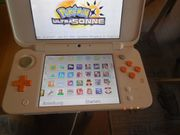 Nintendo 2ds XL weiss orange