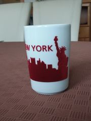 Porzellantasse mit Filz New York
