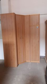 Eck-Kleiderschrank 120x150x230x60 - HH14046
