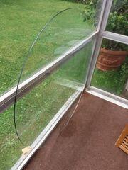 Runde Glasplatte