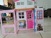 Barbie-Haus Barbie-Elektropferd 4 Barbies und
