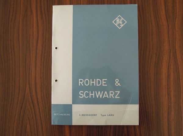 Rohde Schwarz-Beschreibung für das L-Messgerät