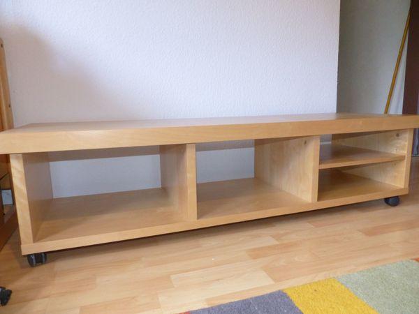 Tv Bank Ikea Oppli Echtholz Furnier Birke In Weissach Phono Tv