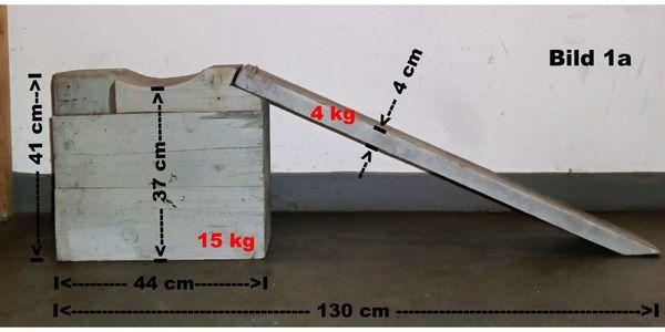 Auffahrrampe für Unterbodenarbeiten aus Massivholz