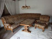Gebrauchte Wohnzimmer-Eck-Couch und 1 Sessel