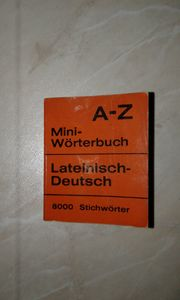 Lateinisch-Deutsch - Mini-Wörterbuch