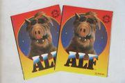 Zwei Stickeralbum ALF