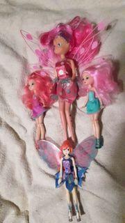viele Barbiepuppen Pferde komplett für