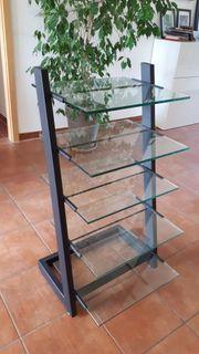 Glassregal für Musikanlage oder Zeitschriften