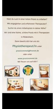 Physiothrapeut in gesucht