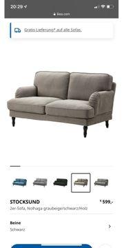IKEA 2er Sofa inkl Hocker
