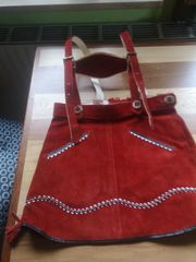 Bayerischer Lederrock rot für Mädchen