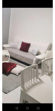 Kunst Leder Sofa in Weiß