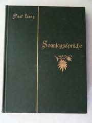 Lang Paul Sonntagssprüche 1899 Stadtpfarrer