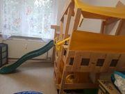 Kinderhochbett mit Rutsche