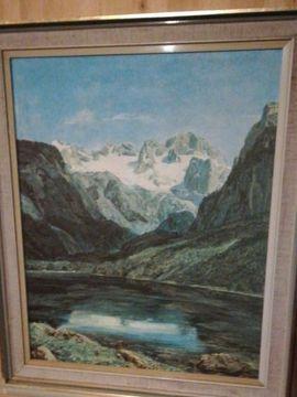 Bild 4 - Landschaftsbild Bergsee mit Rahmen 48 - Südharz