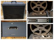 2 antike Kino Lautsprecher Koffer