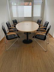 Büro- Konferenz- Esstisch inkl 6