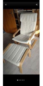 Ikea Sessel mit Hocker Pöang